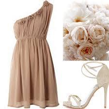 beige neutral wedding bridesmaid dresses