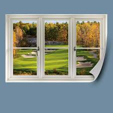 fall golf tee instant window wall decal shop fathead for