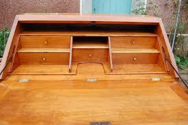 bureau merisier bureau à pente louis xvi en merisier du 18e siècle