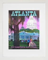 Home Decor Atlanta Travel Art Atlanta Print Poster Georgia Vintage Home Decor