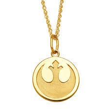 medallion pendant necklace images Star wars rebel alliance medallion pendant in 10k gold rebel jpg