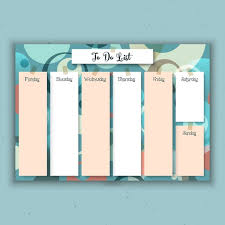 design planner weekly planner with a retro design vector free download