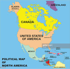 map usa to jamaica political map of america in vector format vector getty