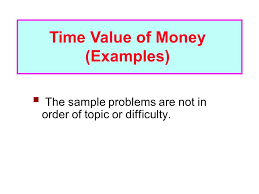 time value of money examples ppt video online download