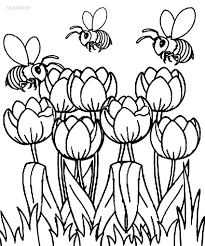 tulip coloring pages for kids u2013 barriee