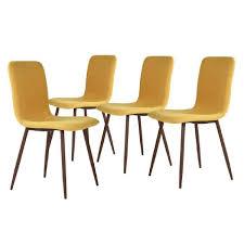 arcane lot de 4 chaises jaunes achat vente chaise jaune