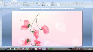 membuat novel di ms word cara membuat background di microsoft word youtube