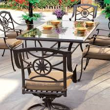 Replacement Glass Table Top For Patio Furniture by Oval Patio Table Garden Treasures Davenport 30in W X 30in L 4seat
