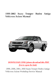 1999 isuzu amigo manual images reverse search