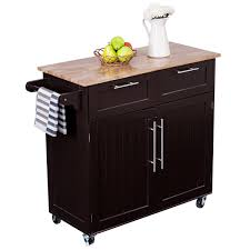 kitchen cart with cabinet costway rolling kitchen cart island heavy duty storage trolley