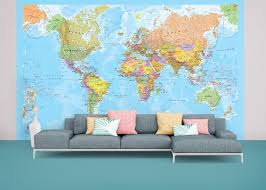 Map Wallpaper Political World Map Wallpaper