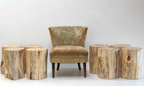 Tree Stump Side Table Black Tree Stump Side Table Mecox Ideas And Trunk Picture End