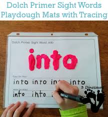 free dolch primer sight words playdough mats with tracing 3