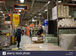 Uk Home Decor Stores Shopping Aisle At B U0026q Home Improvement Store South London Uk