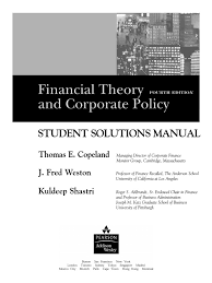 financial theory and corporate policy students solution manual