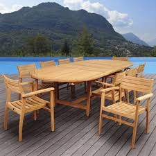 Patio Table Wood Teak Patio Furniture Shop The Best Outdoor Seating U0026 Dining