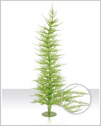 whimsical chartreuse laser tinsel tree tree