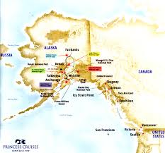 Alaska Air Route Map by 2014 Coral Princess Alaska Cruisetour Review