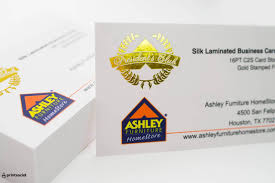 Ashley Furniture Card by 19pt Silk Business Card With Gold Stamped Foil Printsocial