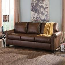 What Is Faux Leather Upholstery Faux Leather Sofa Beds You U0027ll Love Wayfair