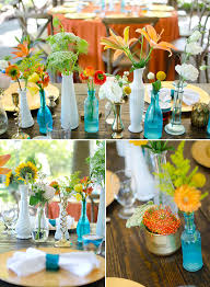Mismatched Vases Wedding Colorful Tennessee Wedding