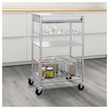 grundtal kitchen trolley stainless steel 54x41x90 cm ikea