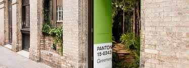 pantone bring a bookable greenery themed apartment to life in london