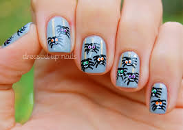 cute easy halloween nail designs