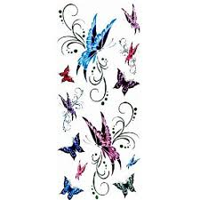 colorful butterfly waterproof temporary tattoos stickers