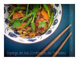 cuisiner asperge wok aux asperges des bois ornithogales