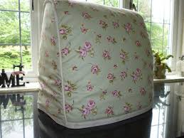 country cottage shabby chic rose green kitchen food mixer cover