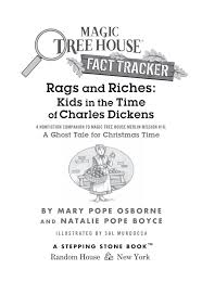 rags and riches kids in the time of charles dickens magic tree