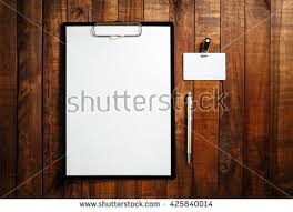 blank letterhead badge pen blank id stock photo 584966380