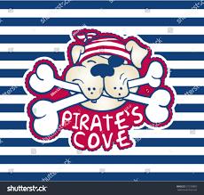 cute pirate dogartwork kids tshirt card stock vector 272139803