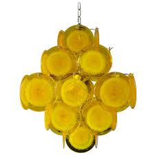 Yellow Pendant Lights Yellow Murano Glass Chandelier For Sale At 1stdibs