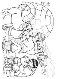 coloriages esquimaux january snow pinterest winter january