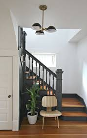 Best Paint For Stair Banisters Best 25 Black Staircase Ideas On Pinterest Black Painted Stairs
