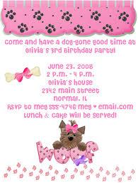 birthday invitation templates puppy birthday invitations