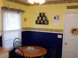 Sunflower kitchen decor theme with wall border decals