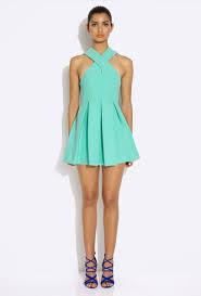 aq aq dresses aq aq maverick green cross mini dress with skirt