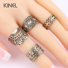 midi ring set aliexpress buy kinel vintage midi ring set for women hollow