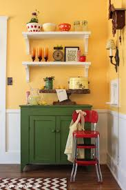Yellow And Green Kitchen Ideas Dining Room Shelves