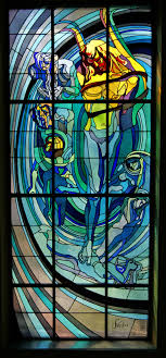 glass design file krakow society house apollo stained glass window
