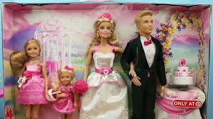 barbie wedding and ken doll with spiderman superhero officiating
