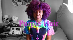 pictures of people who colored their hair with loreal feria b16 bleaching and coloring natural hair purple nefertiti bourne youtube