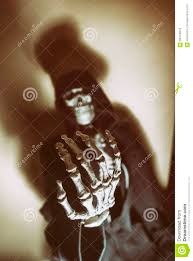 Skull Viewer Dark Skeleton Hand Skull Blur Stock Photo Image 58449819