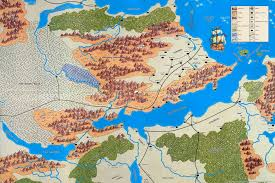Map Of Faerun Vilhon Reach Forgotten Realms Wiki Fandom Powered By Wikia