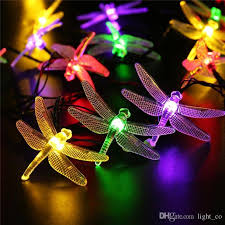 Solar Led Patio String Lights Cheap Led Dragonfly Solar String Lights 20 Led Christmas Fairy