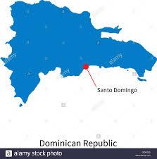 vector map of dominican republic and capital city santo domingo