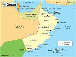 map of oman and uae map uae and oman major tourist attractions maps